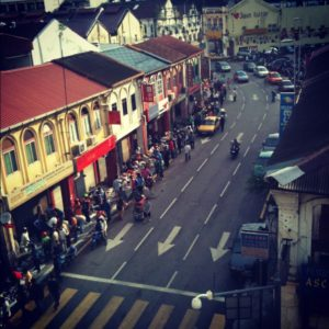 Road outside Pasar seni