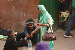 Beggars in the Red fort